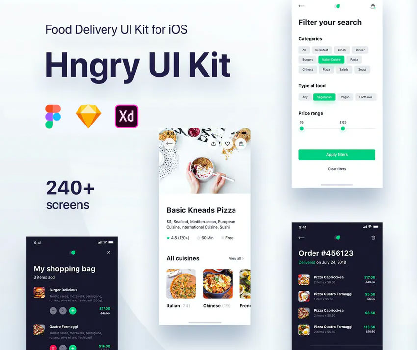 Hngry UI Kit - Food Delivery UI Kit