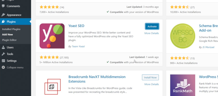 the Yoast SEO plugin