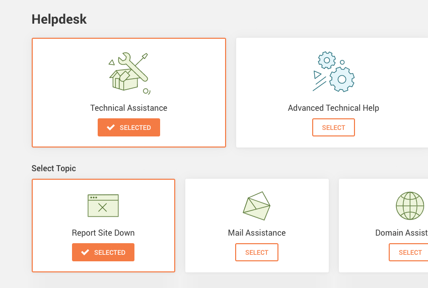 typical support offerings from siteground