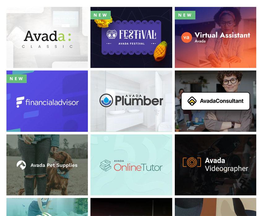 choose one one of hundreds of Avada demos