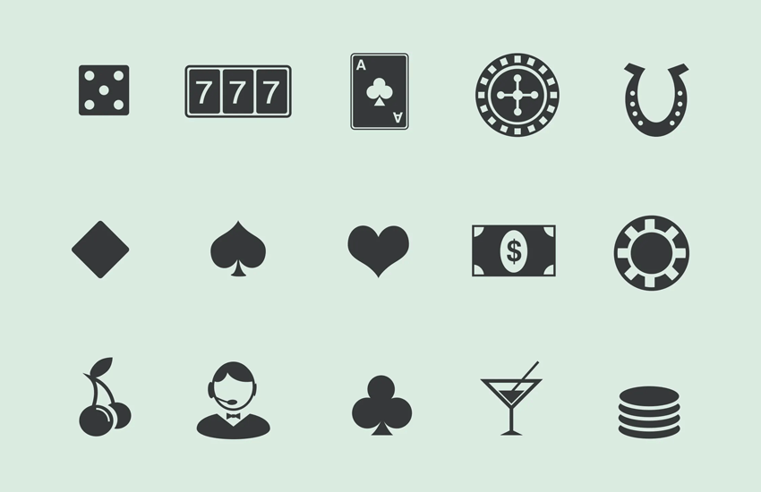 Image of casino icons