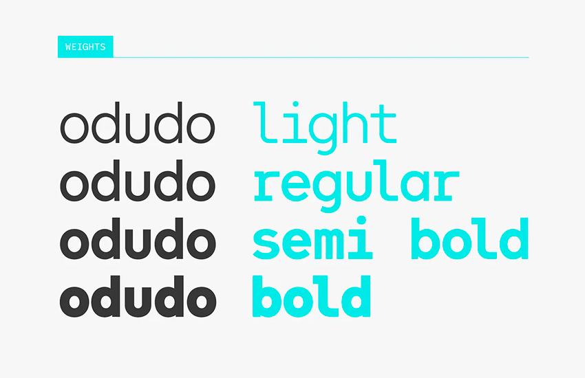 Odudo Mono Font