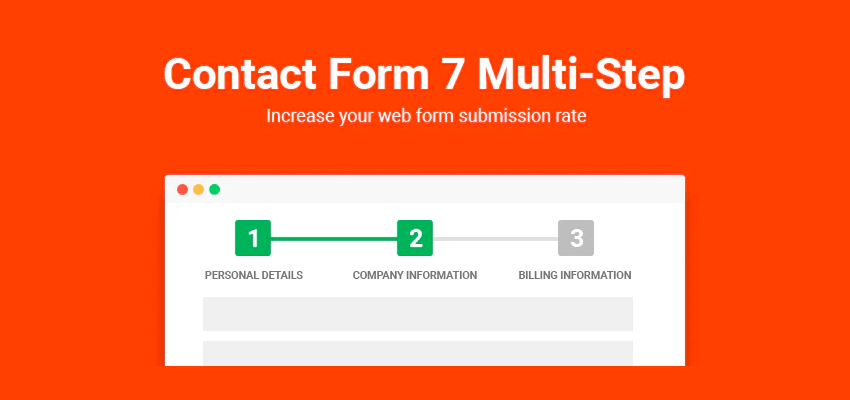 Multi step contact form 7