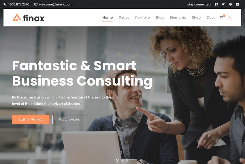 Finax   Responsive Business Consulting WordPress Theme