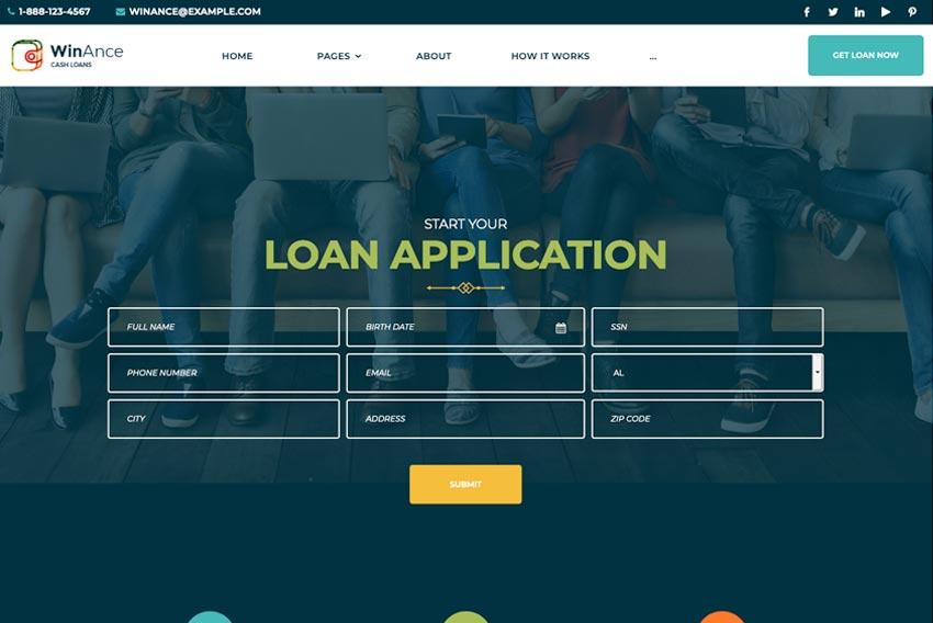 Winance – Financial Company WordPress Theme