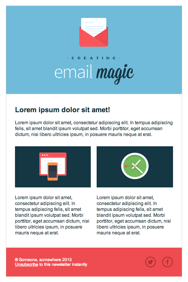 Build An HTML Email Template From Scratch - Newsletter html template