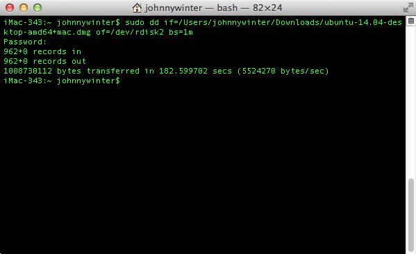 how to make a bootable usb ubuntu on mac