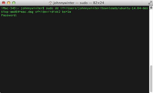 create bootable usb ubuntu mac terminal