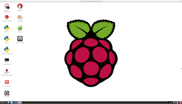 Raspberry Pi desktop at 1600x900 pixels