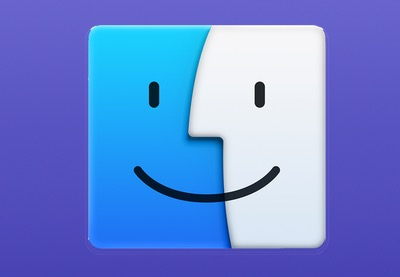 Finder icon purple