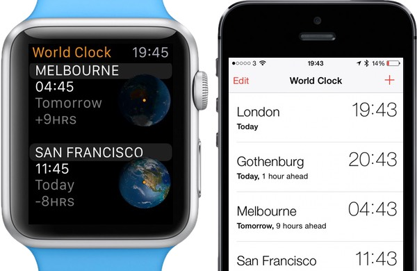 Manage clocks for different times zones from the Clock app on iPhone