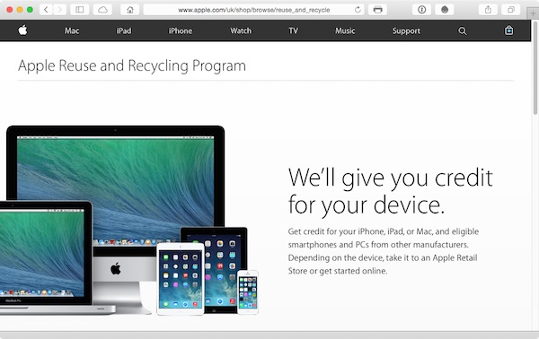 Apple runs a buy-back scheme for old kit iPhone included
