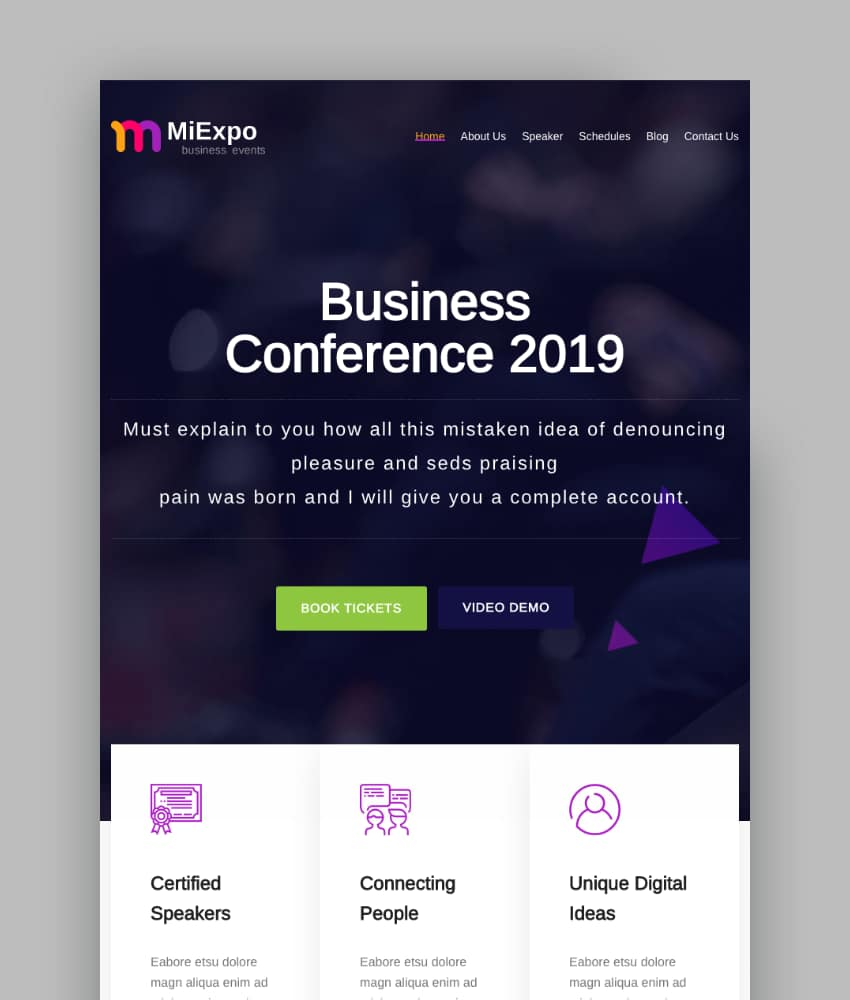 MiExpo  Event Conference Elementor WordPress Theme