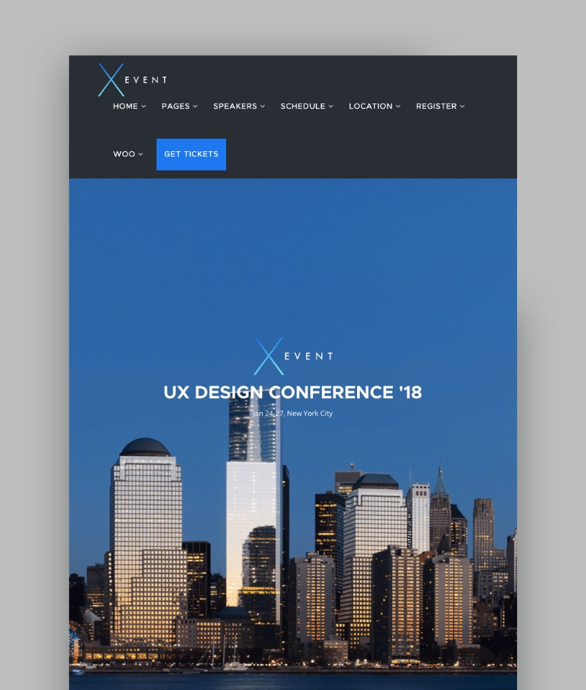 XEvent - Event  Conference WordPress Theme