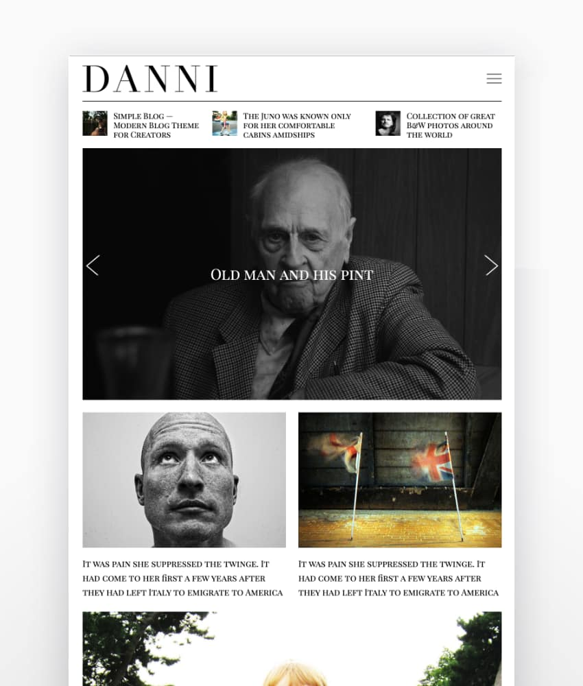 DanniMinimalist WordPress Blog Theme