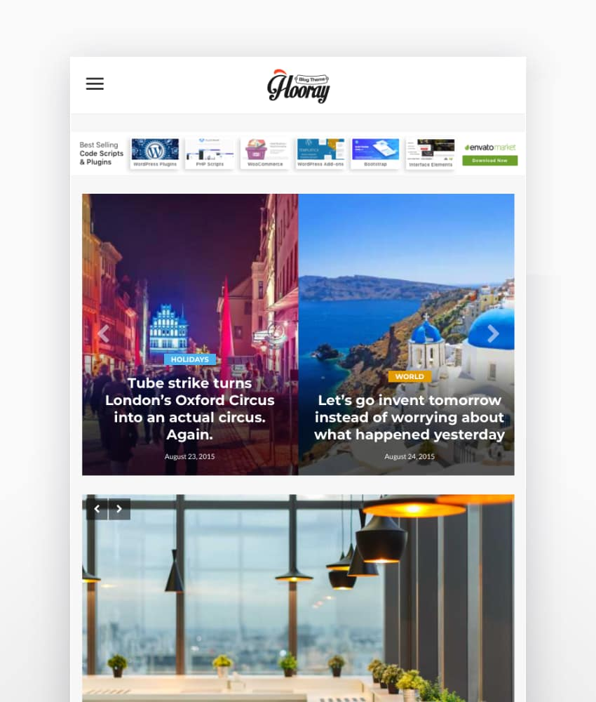 The new version of Hooray Blog Theme with responsive design and a wide range of option will give you the power to customize and edit your blog easily and professionally with no need to any programming background