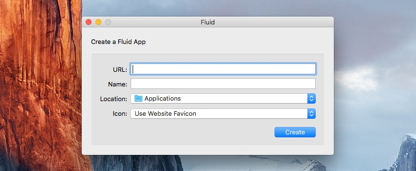 Launching Fluid app