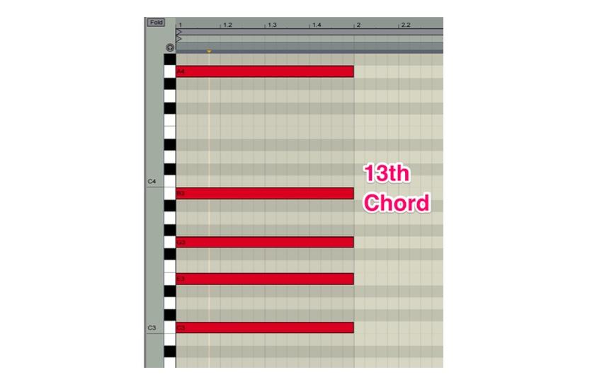 A C-Major thirteenth chord