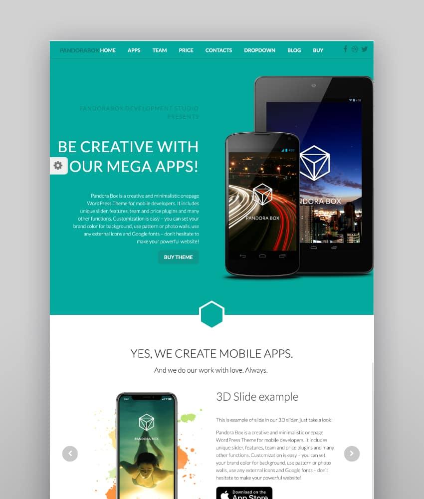 Pandora Box—Onepage WordPress Theme