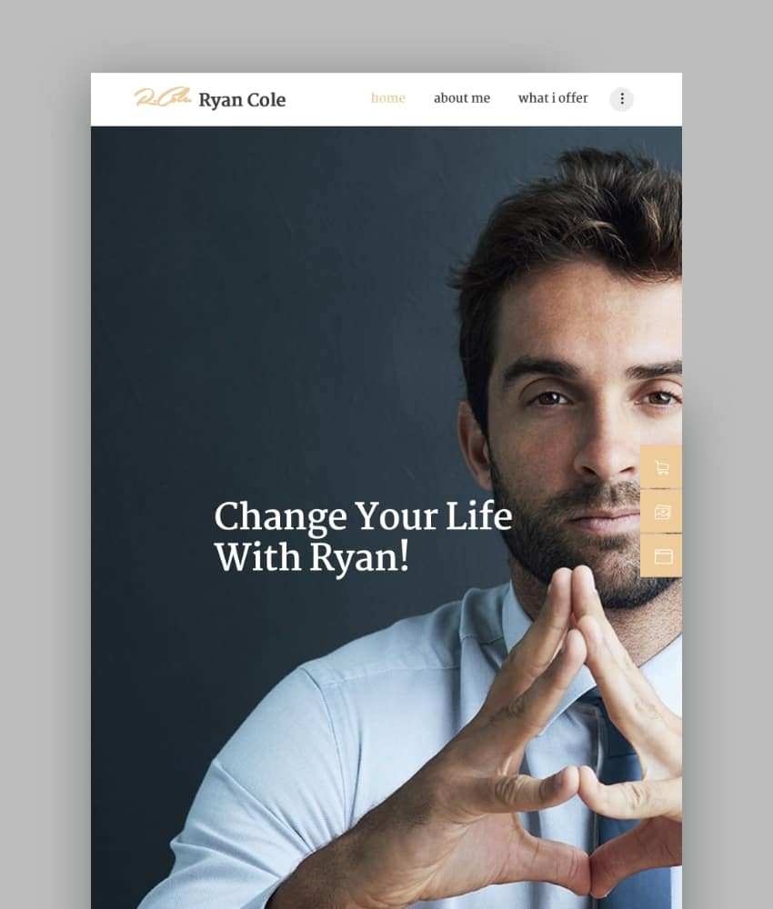 RCole  Life  Business Coaching WordPress Theme