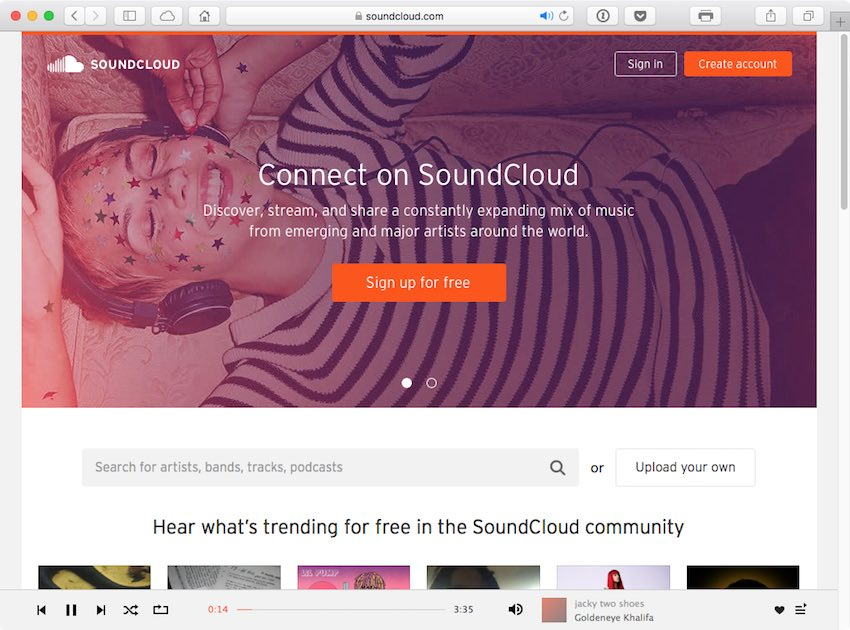 SoundCloud lets people discover the greatest selection of music from the most diverse creator community