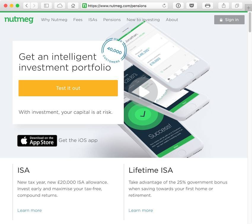 Nutmegs aim is to demystify investing by removing the high fees and technical jargon