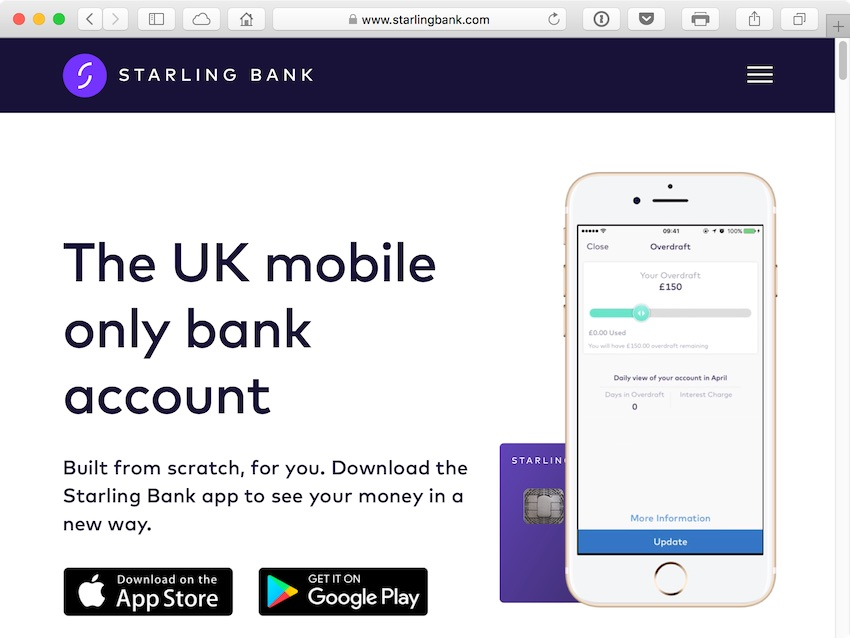 Starling is a 100 mobile only bank