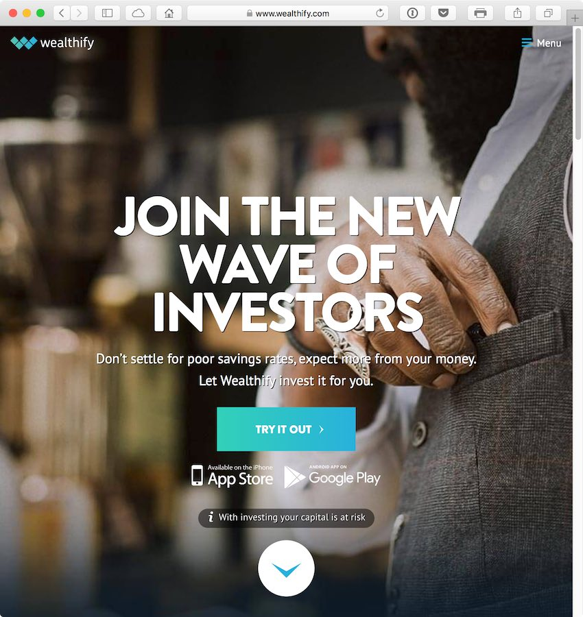 Wealthify lowered the minimum investment to 1 to attract more people to investing