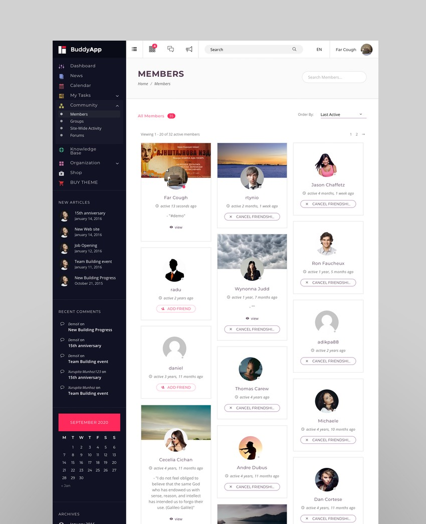 BuddyApp - Intranet and Extranet WordPress Template