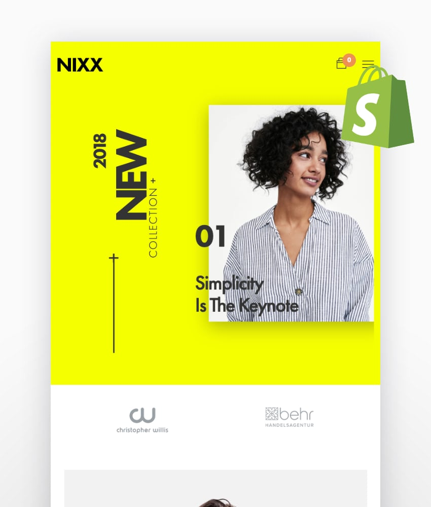 NIXX—Minimal and Clean Fashion Shopify Theme