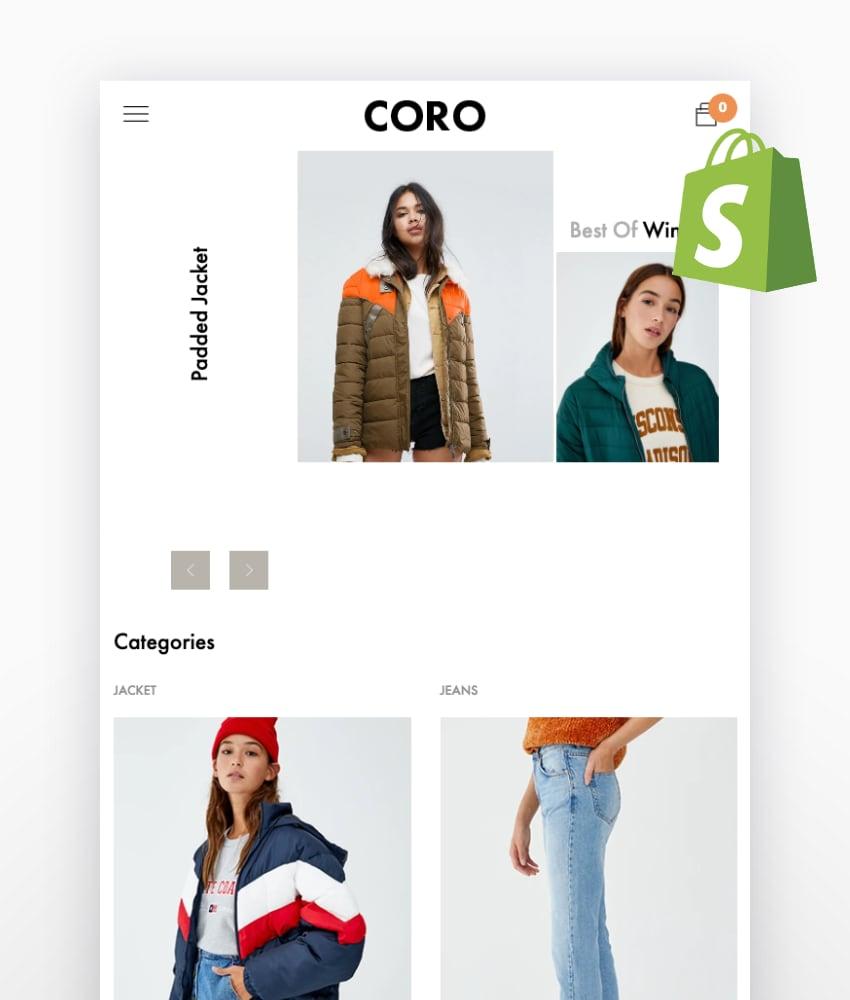 CORO—Minimal & Clean Fashion Shopify Theme