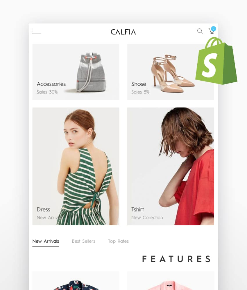 Calfia a Fashion Multipurpose Shopify Theme