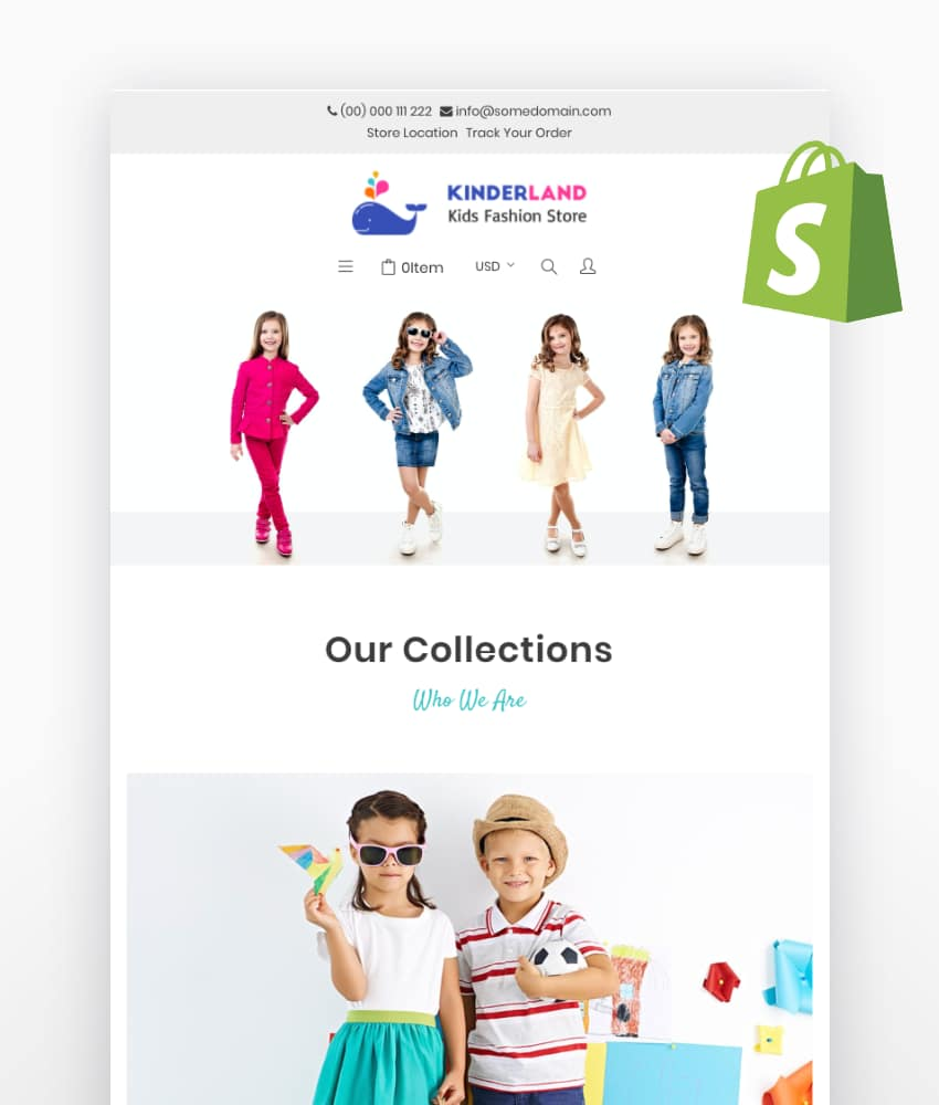 Kinderland Kids Fashion Store Shopify Theme