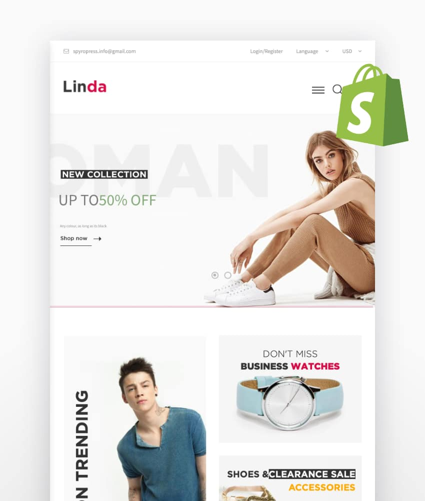 Linda - Multipurpose eCommerce Shopify Theme
