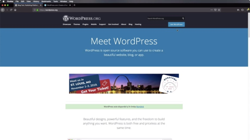 WordPressorg website