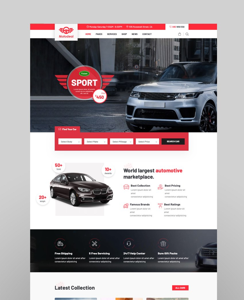 MotodealCar Dealer and Classified WordPress Theme