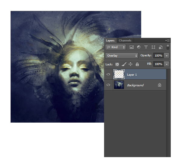 Illustrate a dramatic feather infused portrait in adobe photoshop 13 add color accents fandeluxe Image collections