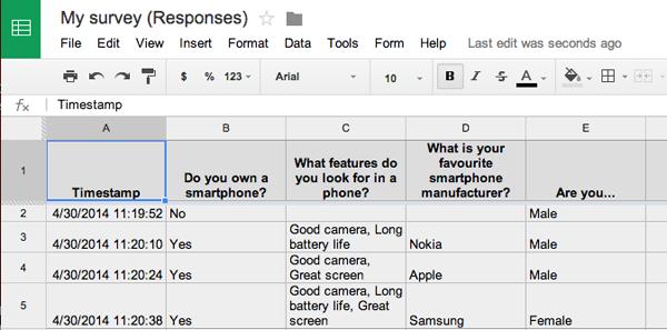 Cómo hacer una encuesta en Google Docs