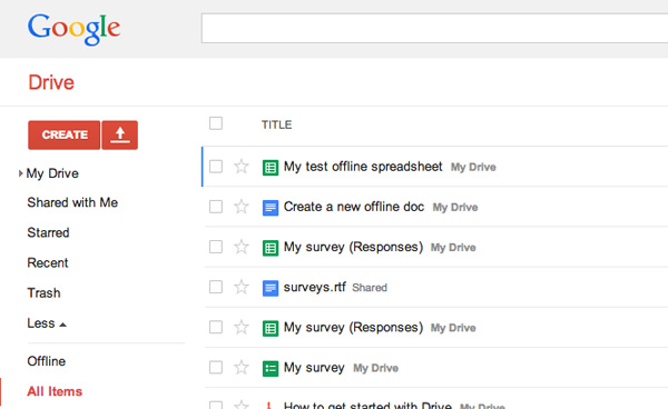 Install Chrome Drive app