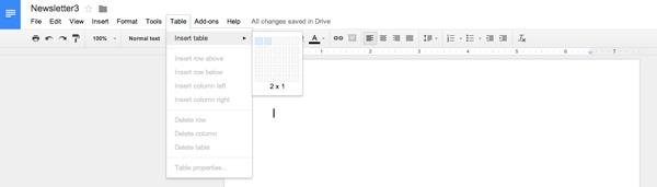 change font size in google docs