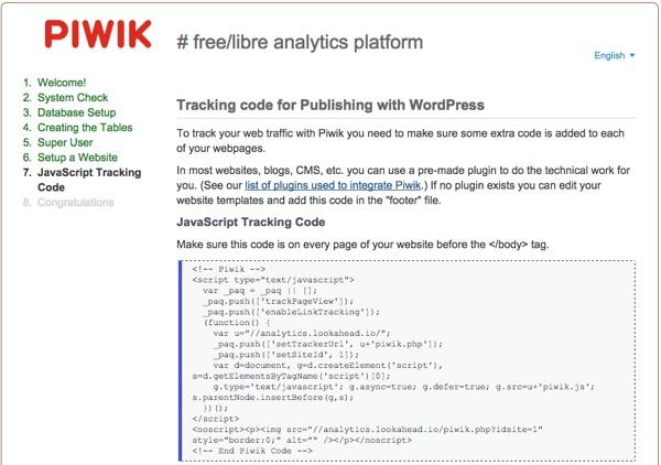 Piwik Tracking Code in Javascript