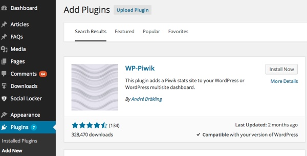 WP-Piwik Plugin for WordPress