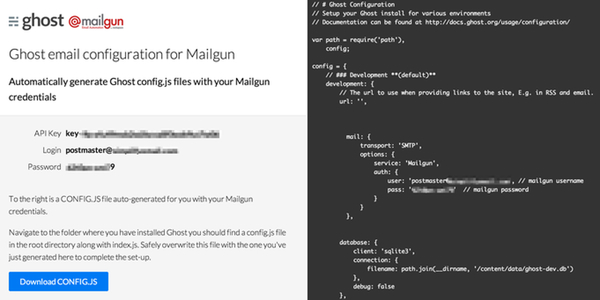 The Ghost Mailgun Configuration Helper