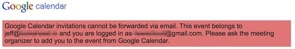 Google Calendar Common Problems