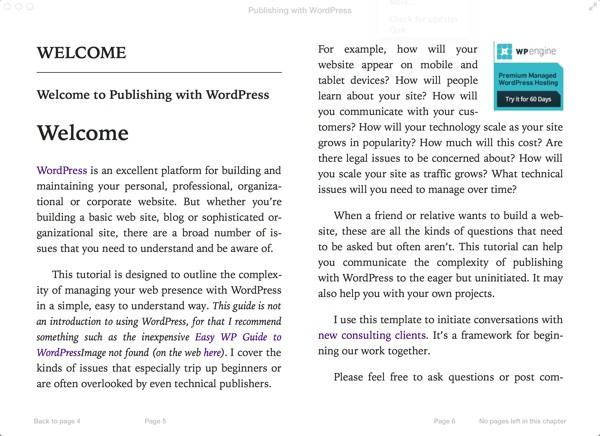 Publishing with WordPress as an ePub
