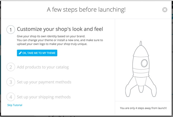 PrestaShop - Store Configuration Wizard - Look and Feel
