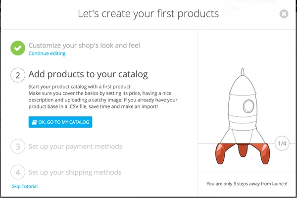 PrestaShop - Store Configuration Wizard - Add Products
