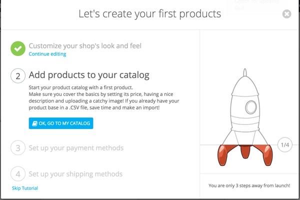 PrestaShop - Assistant de configuration de magasin - Ajouter des produits
