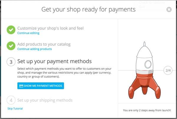 PrestaShop - Assistant Configuration du magasin - Configuration des méthodes de paiement