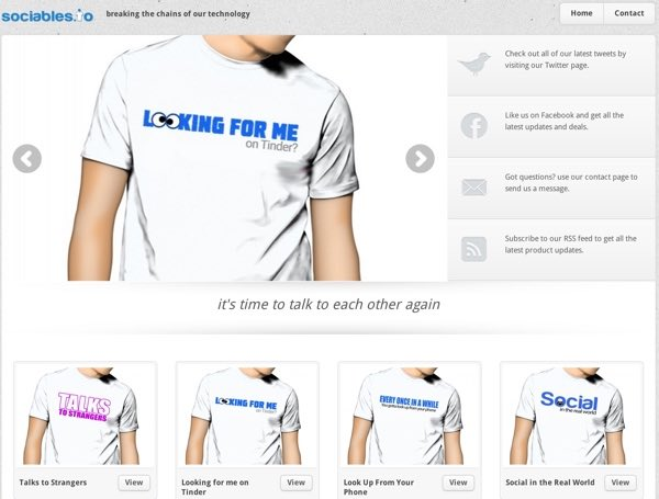 Sociables - My WordPress Stored Powered by the Spreadshirt Plugin